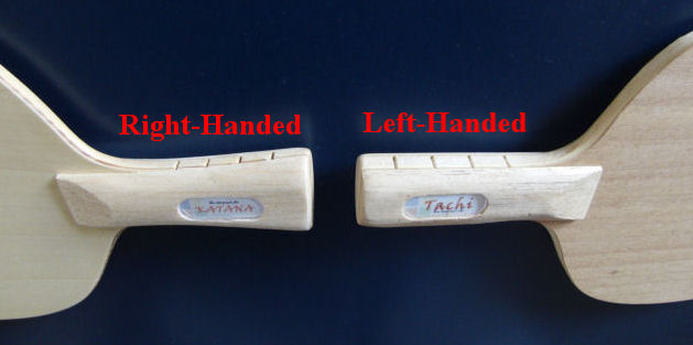 Re-impact blade - left-handed vs right-handed